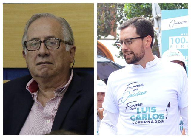 Luis Guillermo Giraldo y Luis Carlos Velásquez. Foto: La Patria.